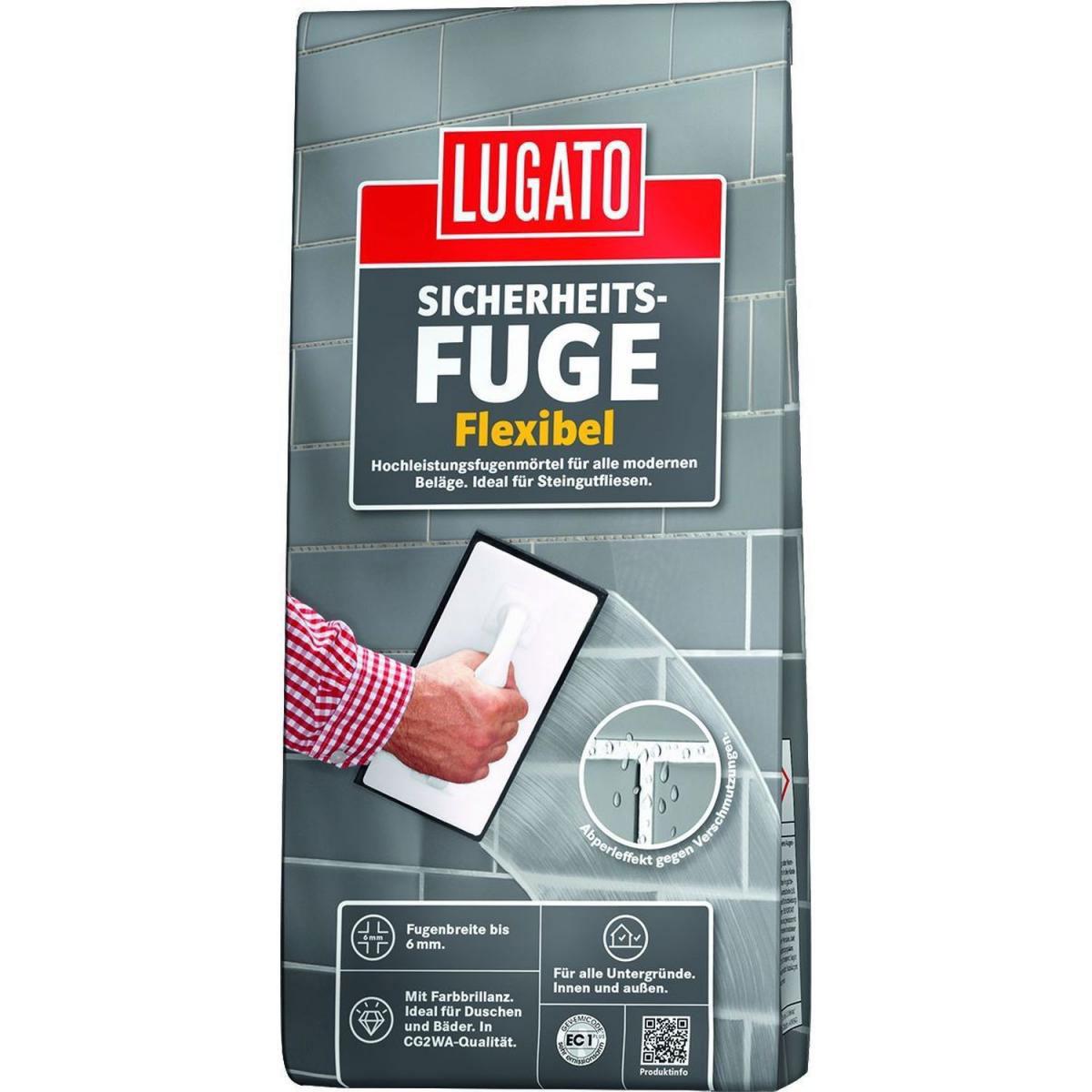 Lugato Sicherheitsfuge, flexibel silbergrau 5 kg