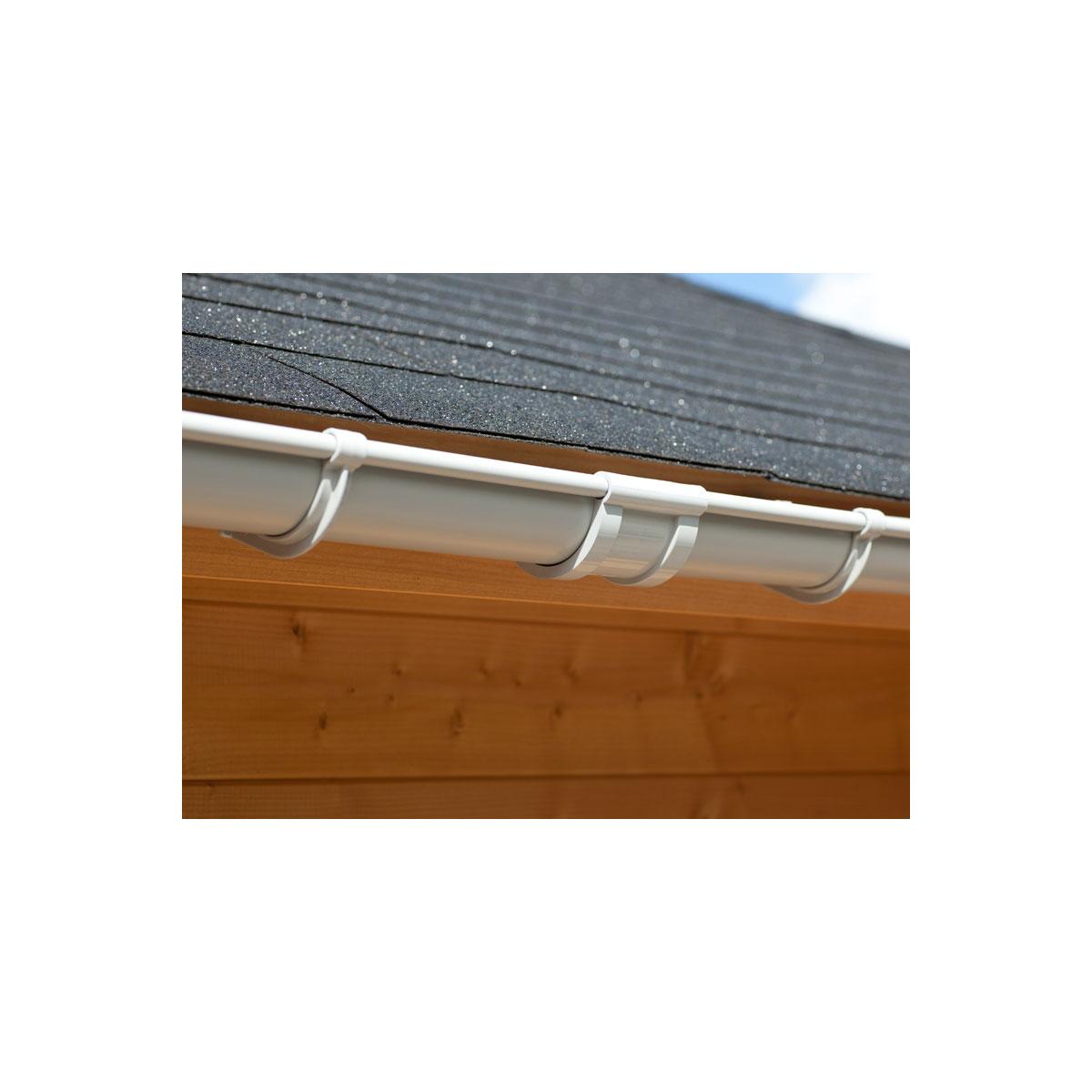 Karibu Dachrinnen Set 1 beidseitig für Satteldächer, 3 m