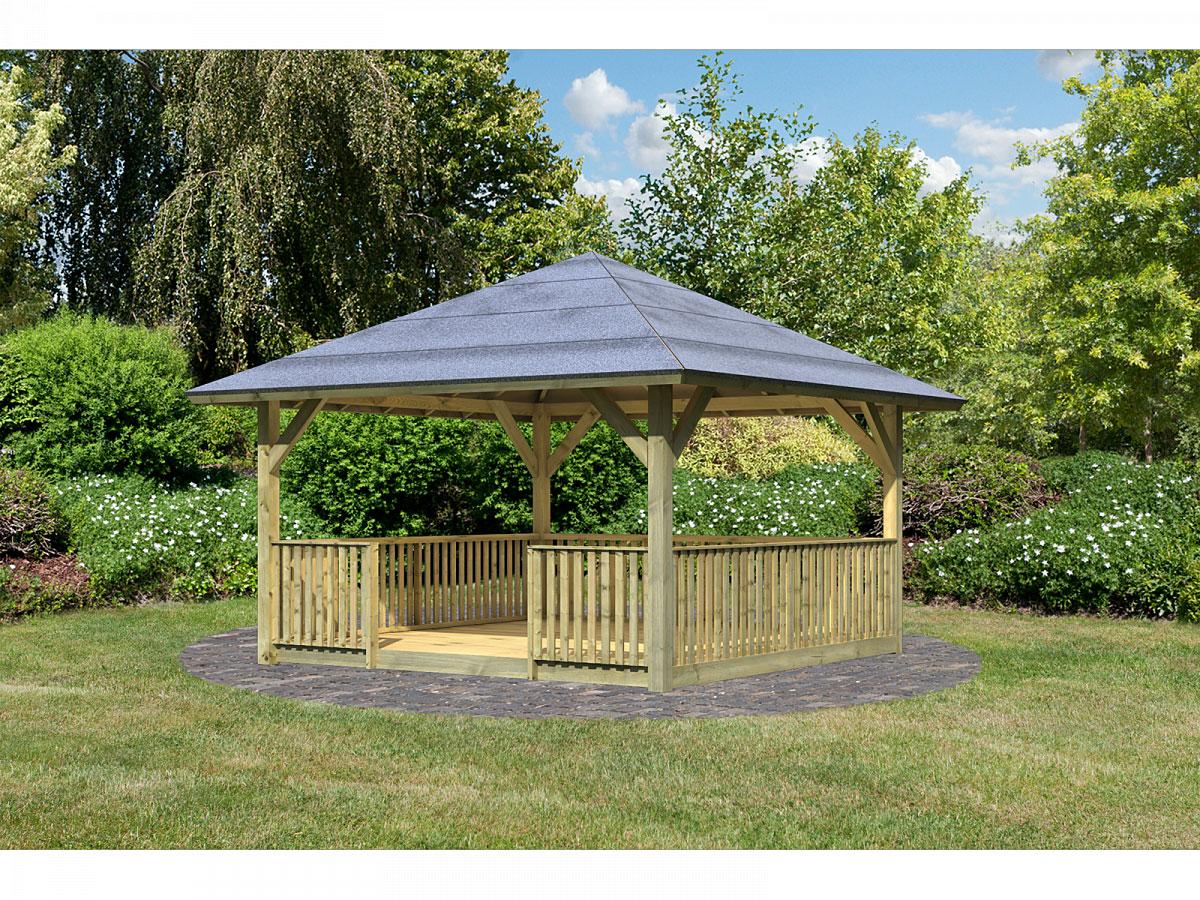 Pavillons - Holzpavillon Holm 1 im Set mit Brüstung und Fußboden  - Onlineshop Hellweg