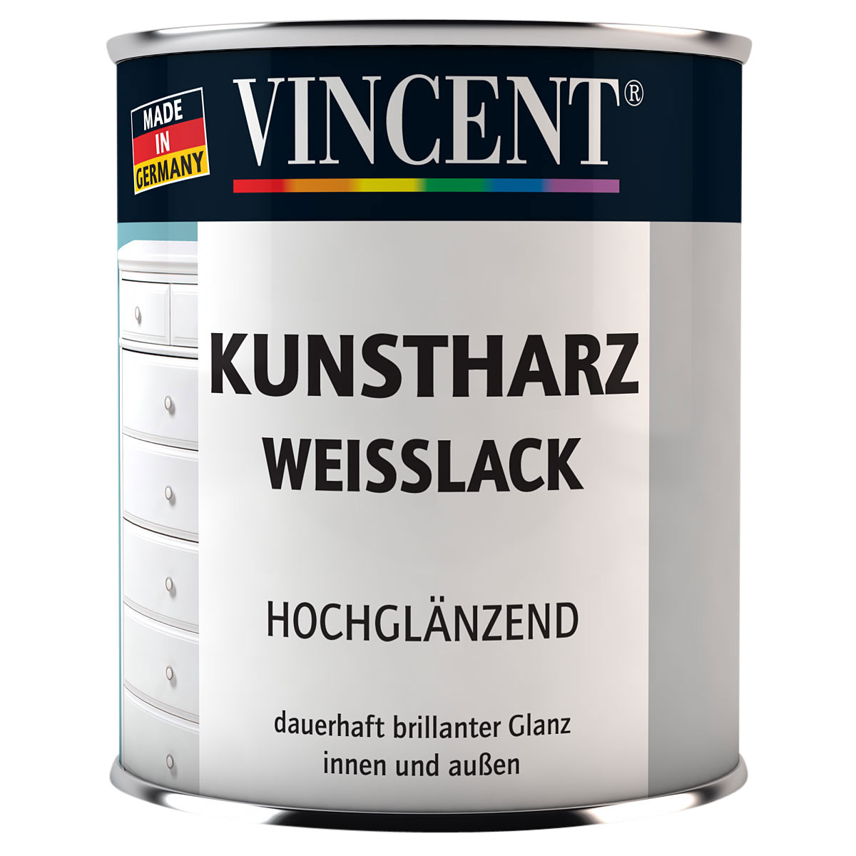 Vincent Weisslack hochglänzend 375 ml