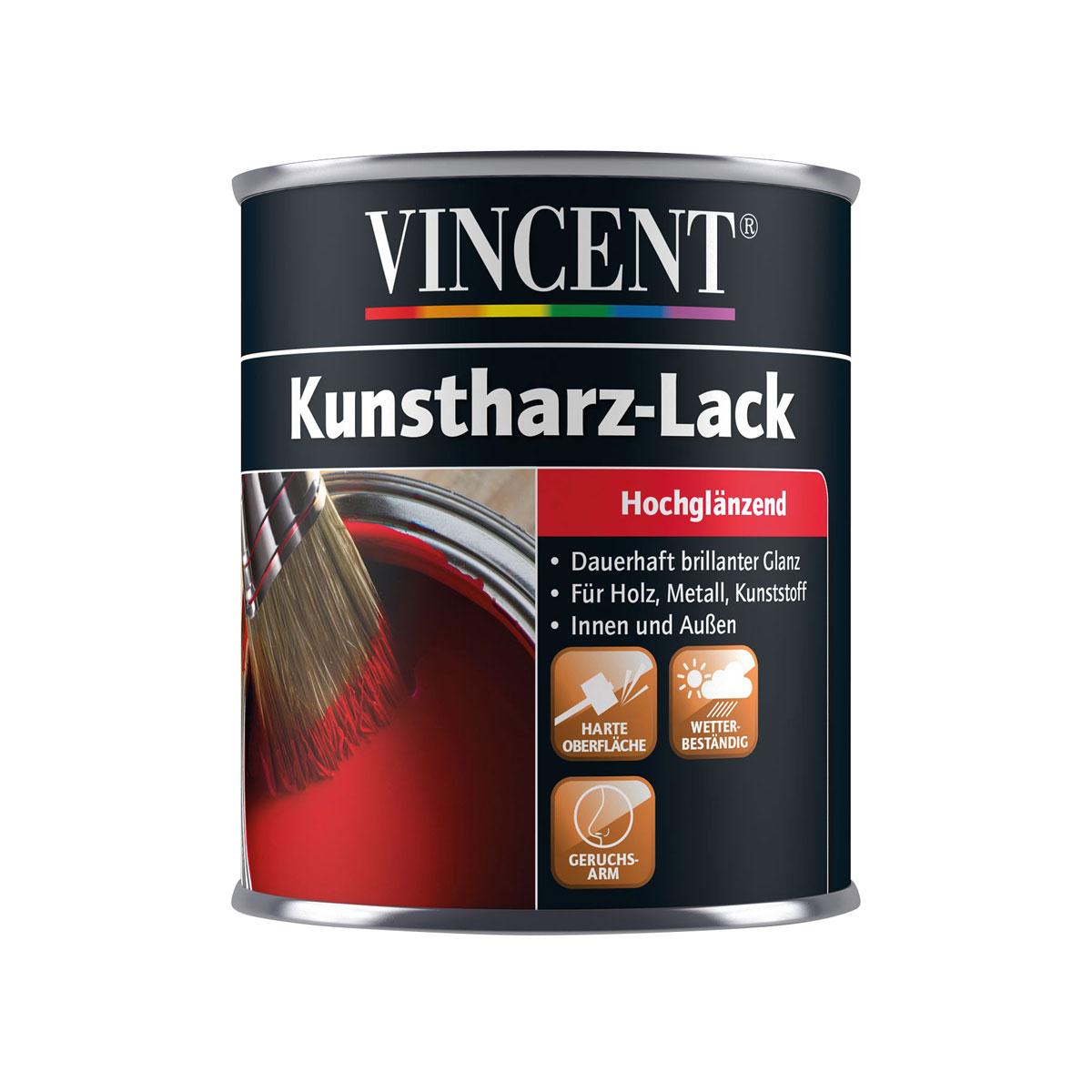 Vincent Hochglanzlack reinweiß 750 ml