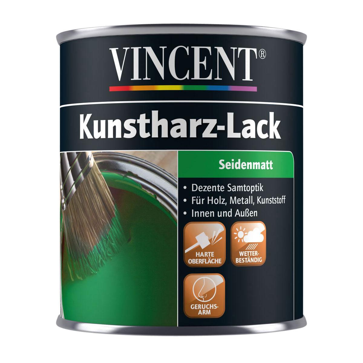 Vincent Kunstharzlack reinweiß 2,5 L