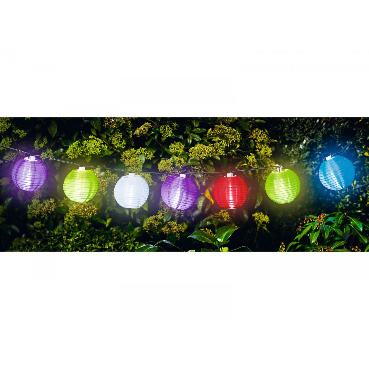 "Flector Garten Solar-Lichterkette ""Lampions"", mehrfarbig"