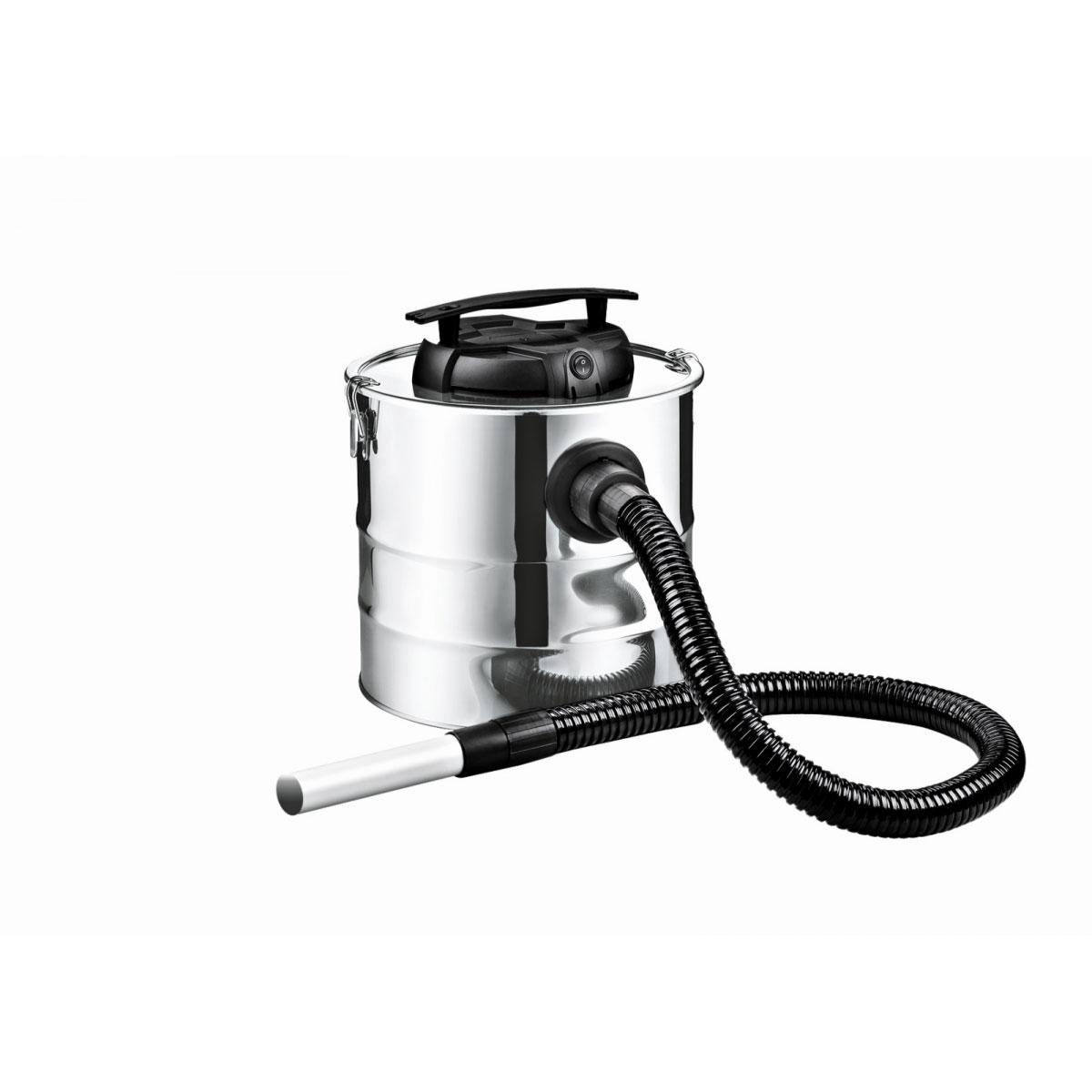 MyFireTool Aschesauger Edelstahl glänzend 20 Liter 1200 Watt