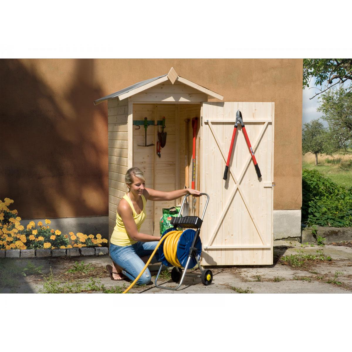 Weka Gartenschrank m. Einzeltür 14 mm