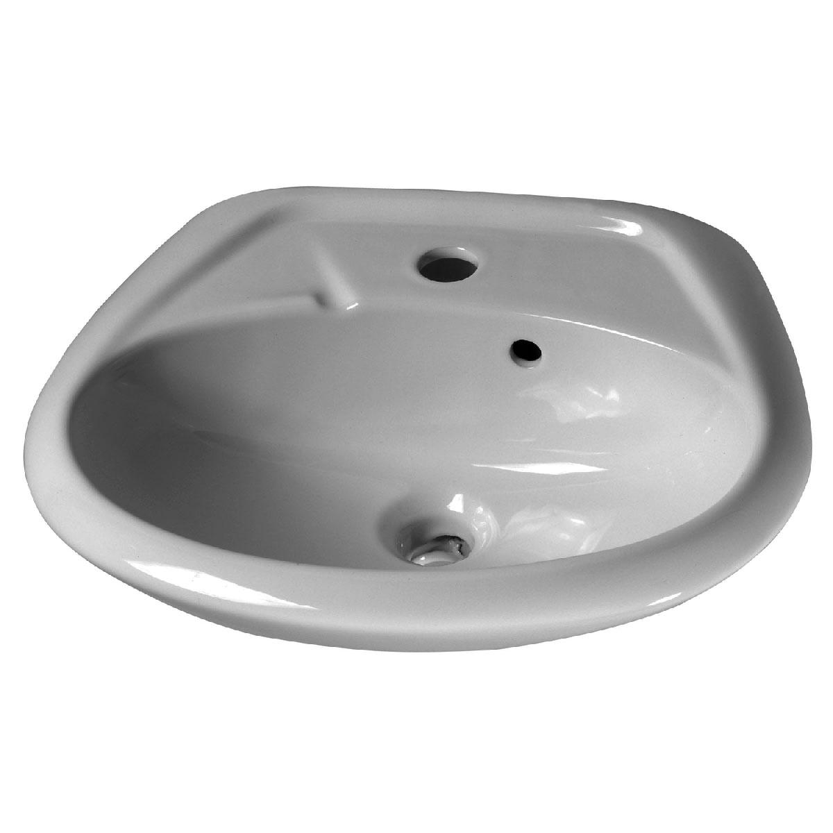 Waschbecken Alpha, 47 Zentimeter