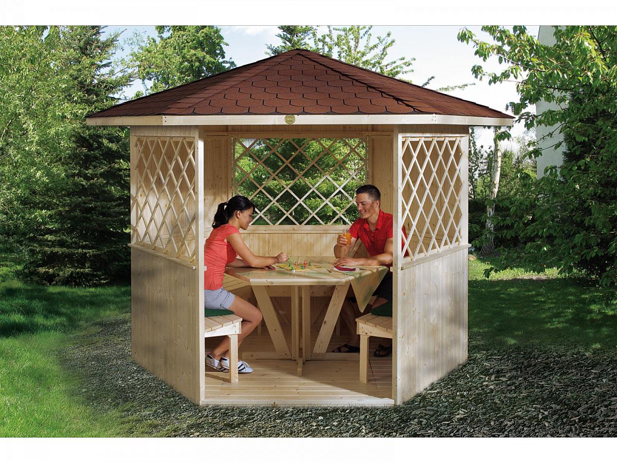 Weka Holzpavillon Alles dabei