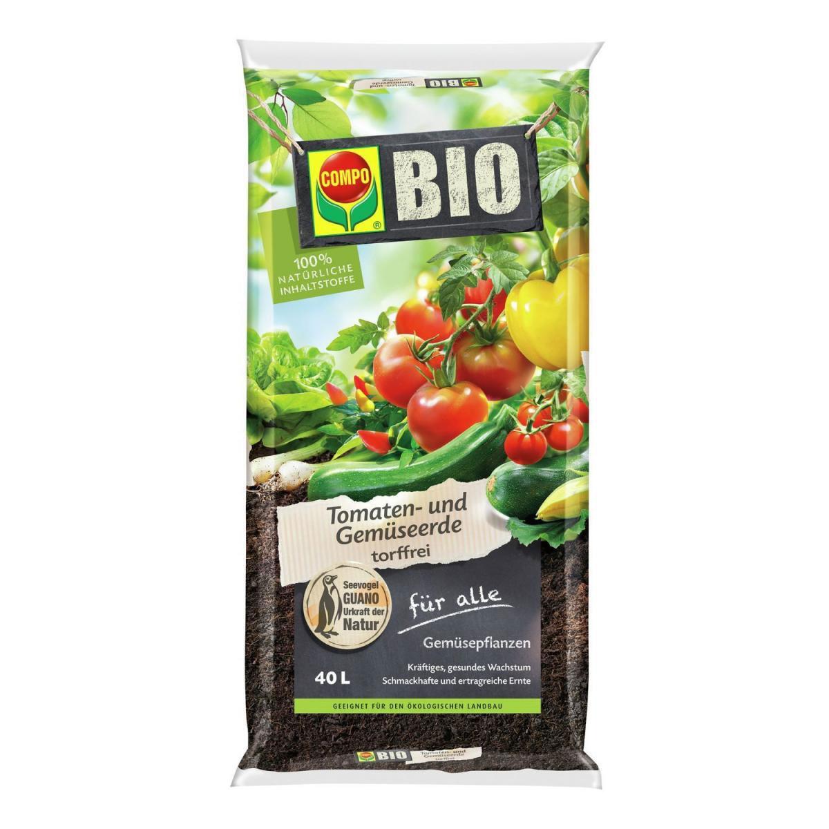 Compo BIO Tomaten- & Gemüseerde torffrei 40 L