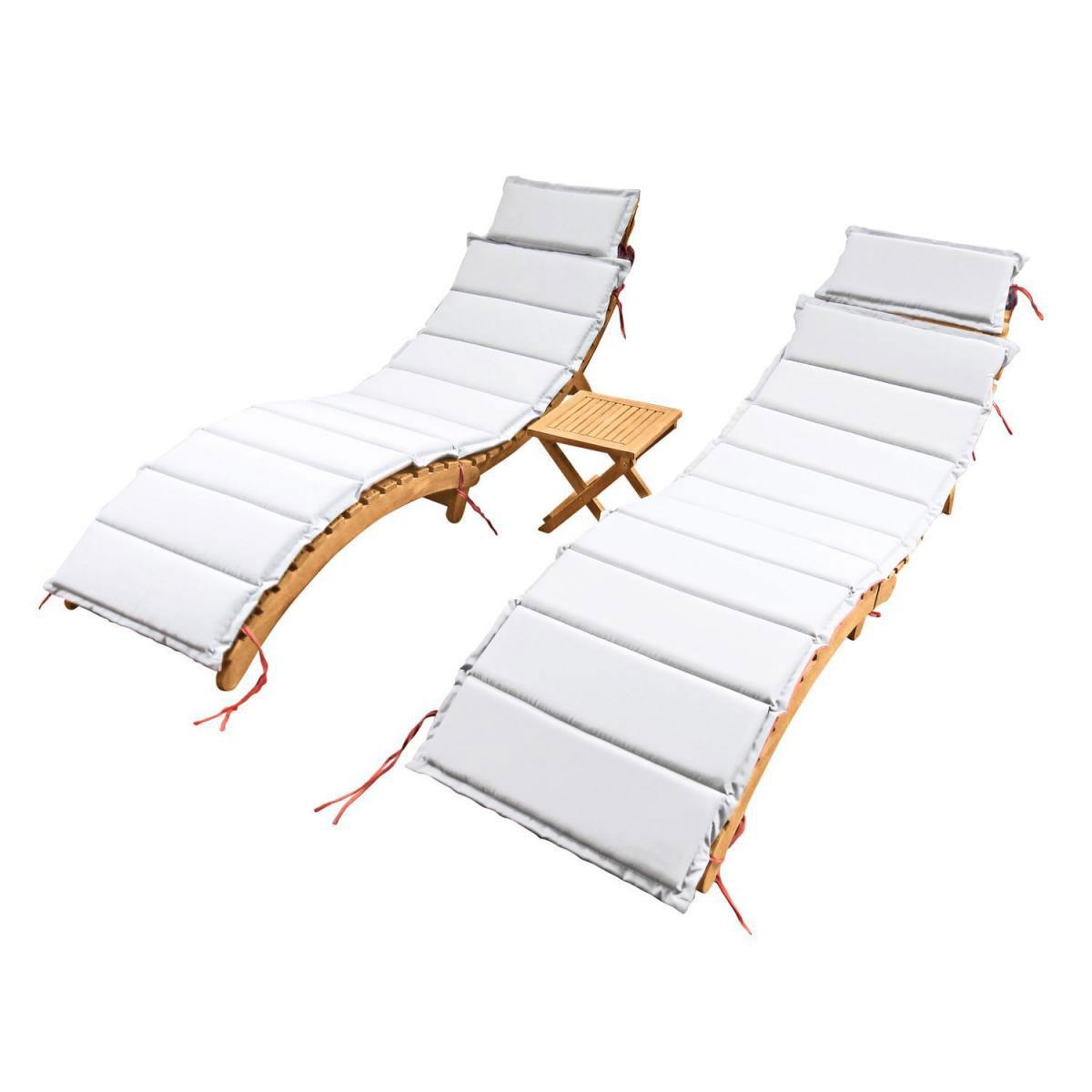 Bänke und Liegen - Sonnenliegen Set, Akazienholz  - Onlineshop Hellweg
