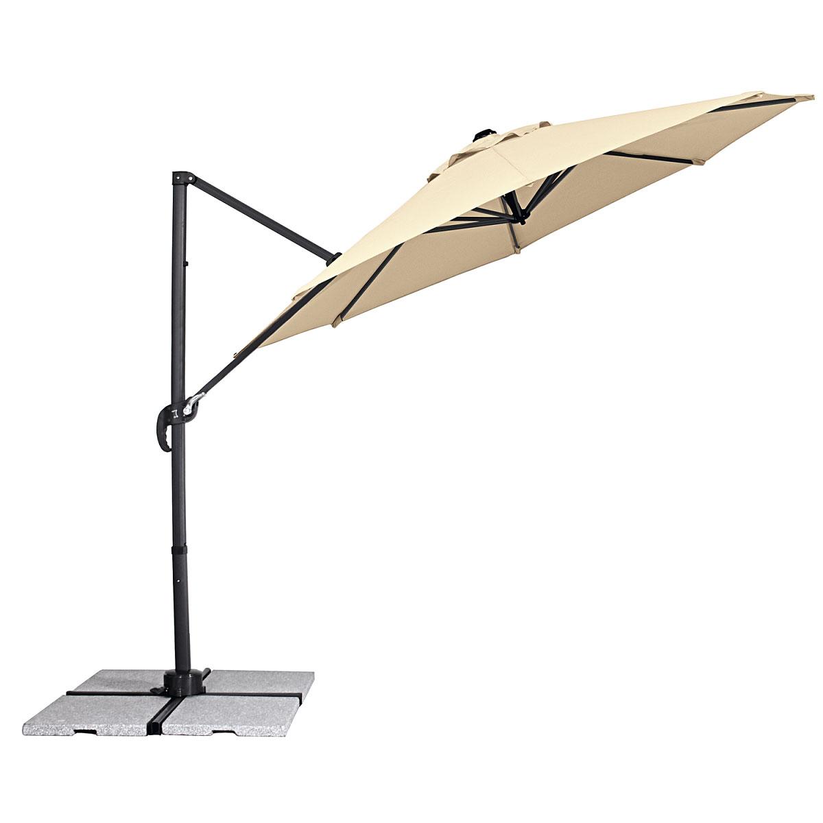 """Sonnenschirme und Sonnensegel - Ampelschirm """"Teramo"""", 300 cm, natur  - Onlineshop Hellweg"""