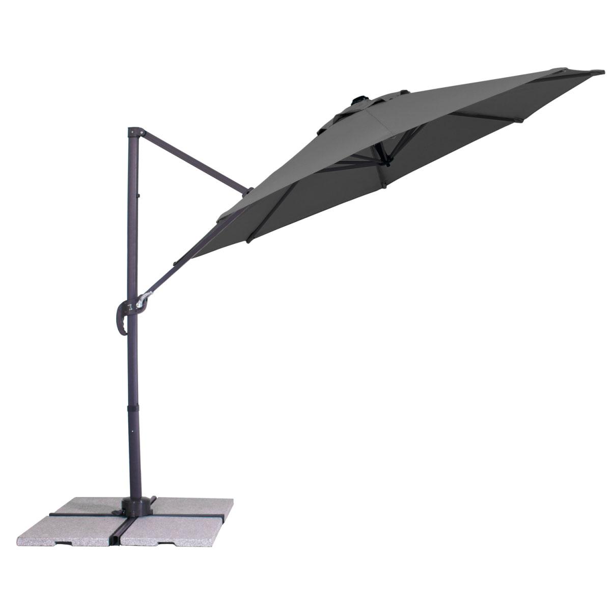 """Sonnenschirme und Sonnensegel - Ampelschirm """"Teramo"""", 300 cm, anthrazit  - Onlineshop Hellweg"""