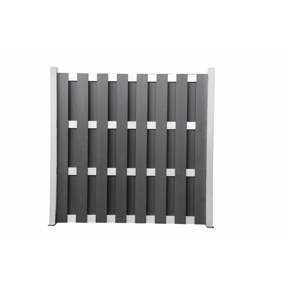 """Hartmann Zaun """"WPC/Alu"""", 180x180 cm, anthrazit"""
