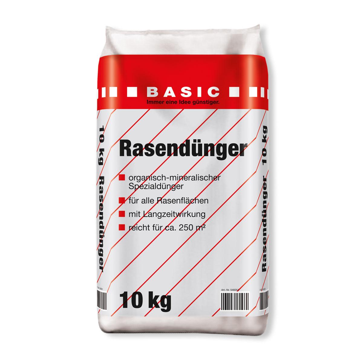 Basic Rasendünger, 10 kg