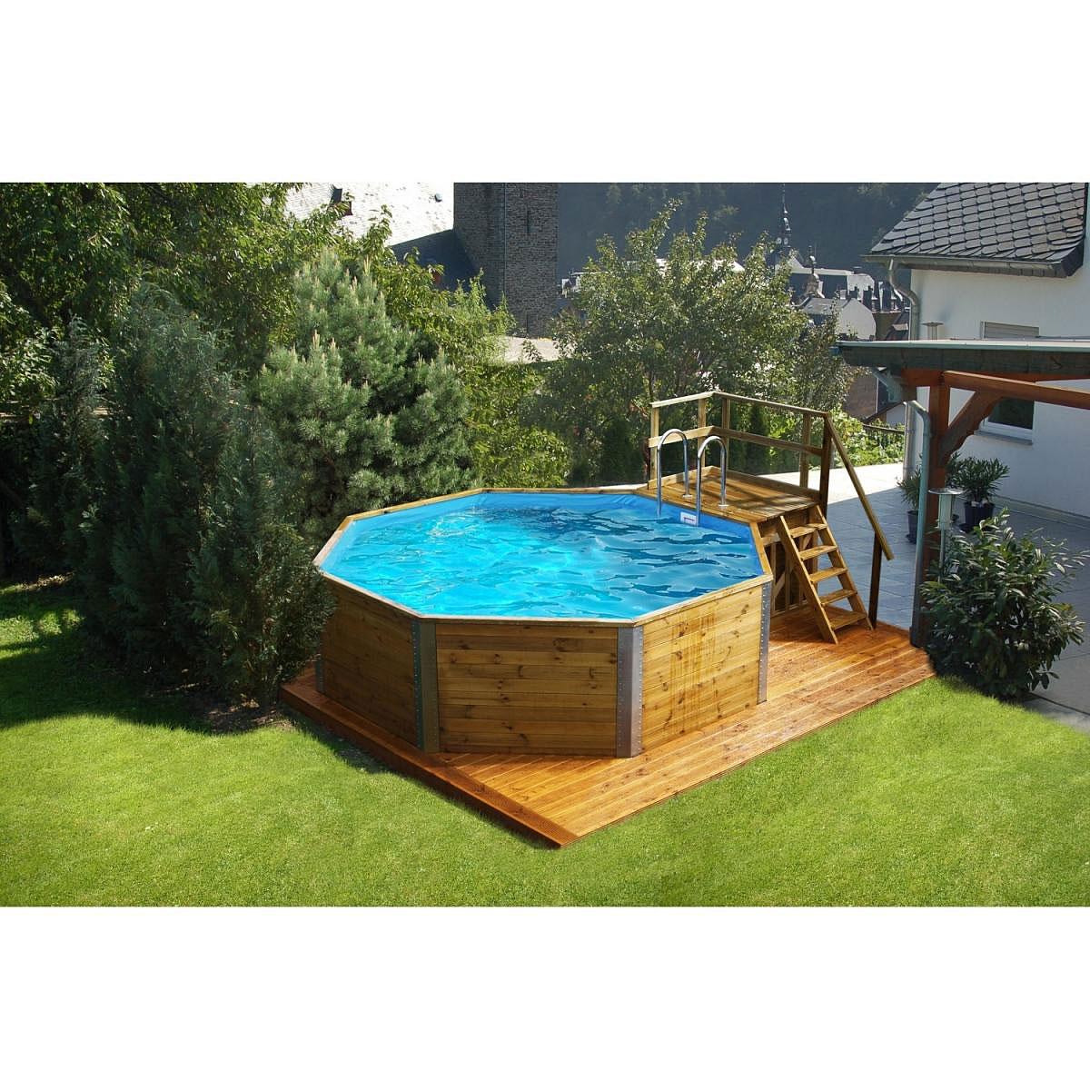 """Pools und Schwimmbecken - Massivholzpool """"593 B Gr.1"""", Sparset, 376x476 cm  - Onlineshop Hellweg"""