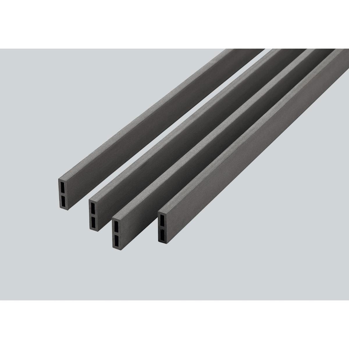 Rettenmeier WPC-Abschlussleiste grey, glatt, 17x60x3000 mm