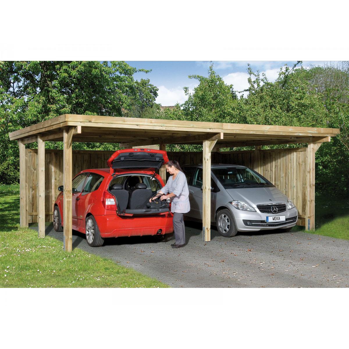 "Carports - Carport ""Optima Duo L"" 603x512 cm 603 cm  - Onlineshop Hellweg"