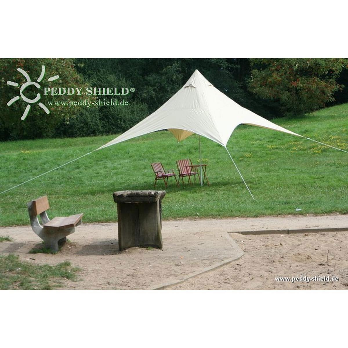 Floracord Camping Pyramiden Sonnensegel Sand 400 cm x 400 cm