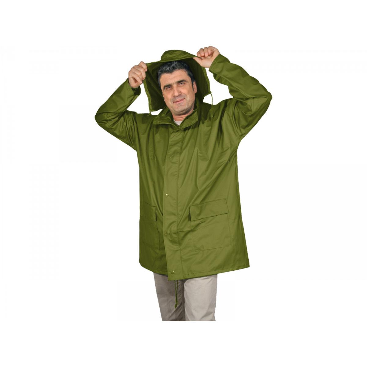 Regenjacke, flexibel, grün, Gr. 62/64