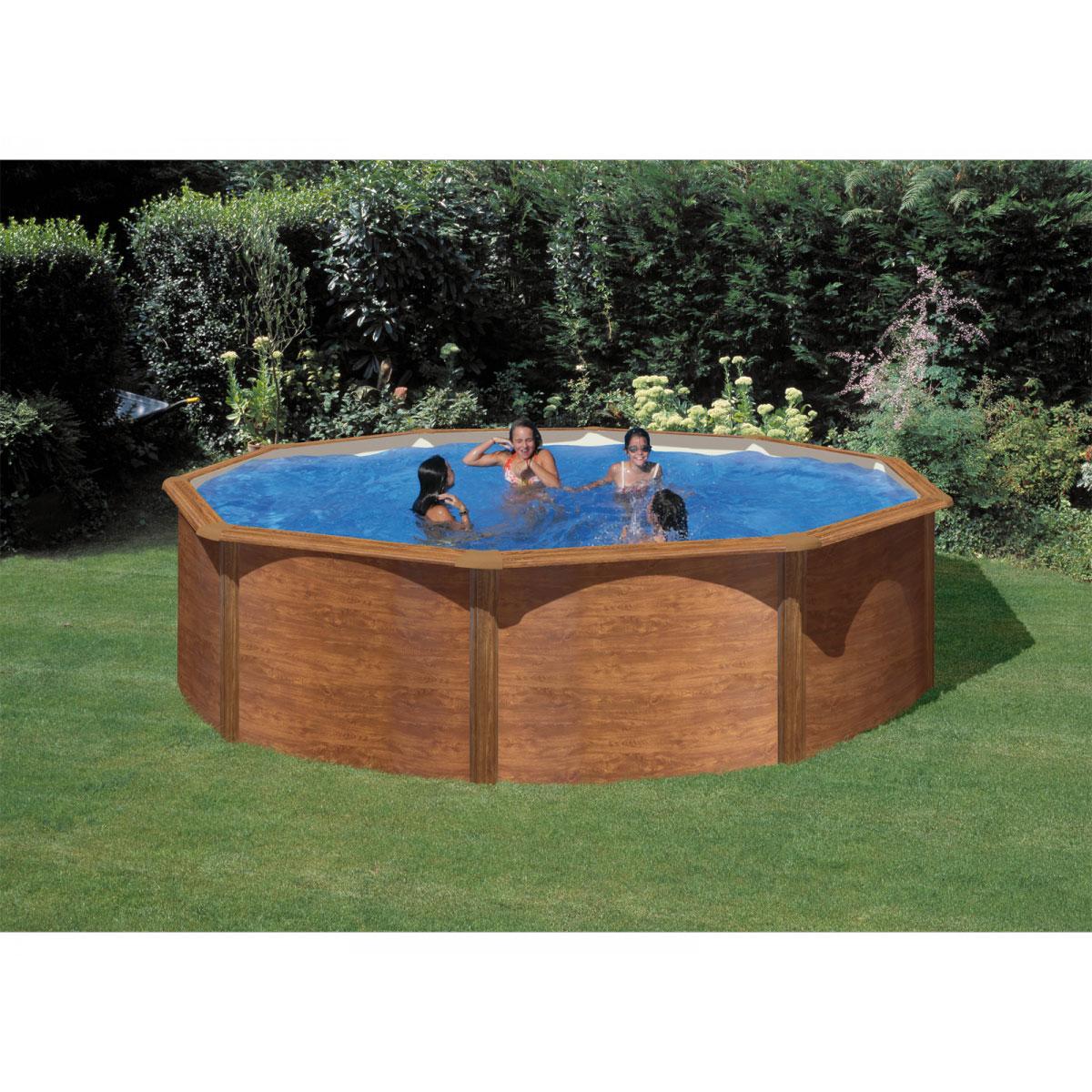 """Pools und Schwimmbecken - Rundpool Set """"Holzoptik"""", 460x120cm  - Onlineshop Hellweg"""