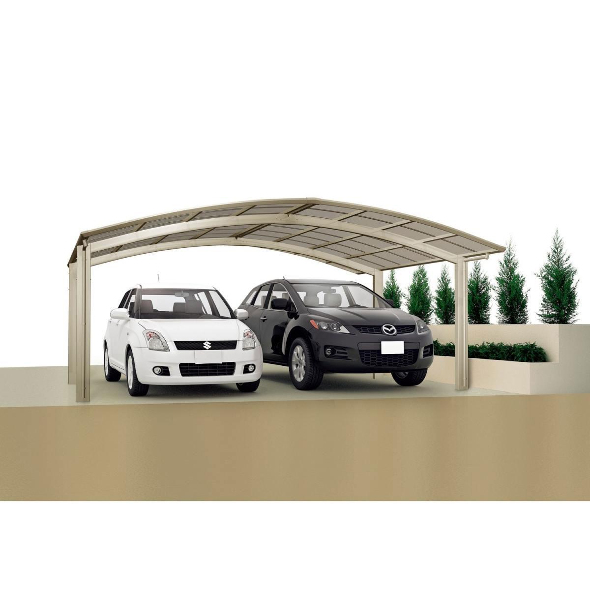 "Carports - Carport Alu ""Portoforte 80 M Ausführung"" Edelstahl Look 100  - Onlineshop Hellweg"