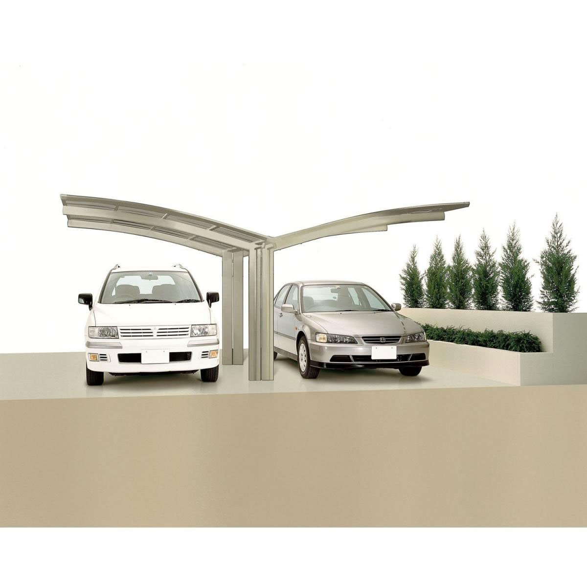 "Carports - Carport Alu ""Portoforte 80 Y Ausführung"" Edelstahl Look Edelstahl  - Onlineshop Hellweg"