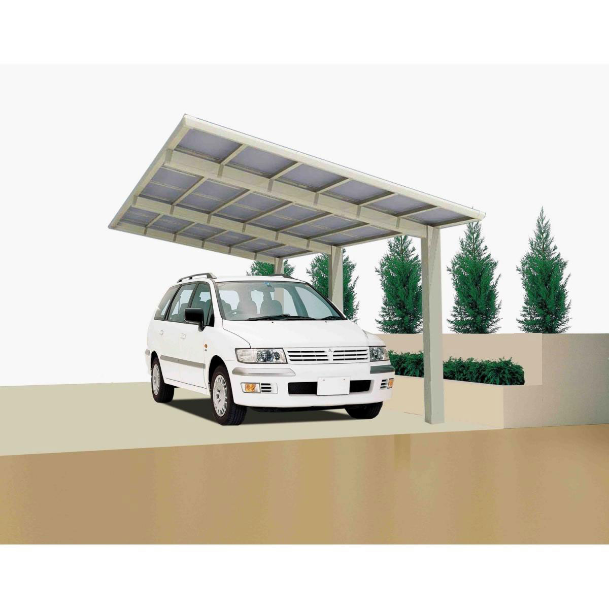 "Carports - Carport Alu ""Linea 170"" Edelstahl Look 213 kg m²  - Onlineshop Hellweg"