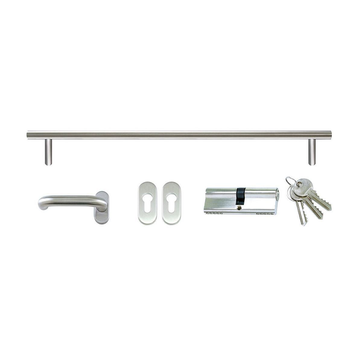 Griffgarnitur-Set für Haustüren ES23 mit Griff 160 cm