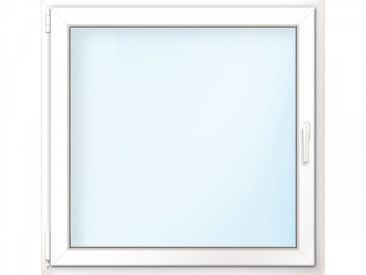 Fenster PVC 70/3 weiß/weiß Anschlag links 75x75 cm