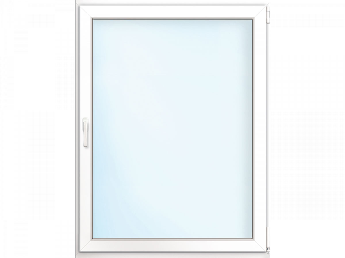 Fenster PVC 70/3 weiß/weiß Anschlag rechts 80x100 cm