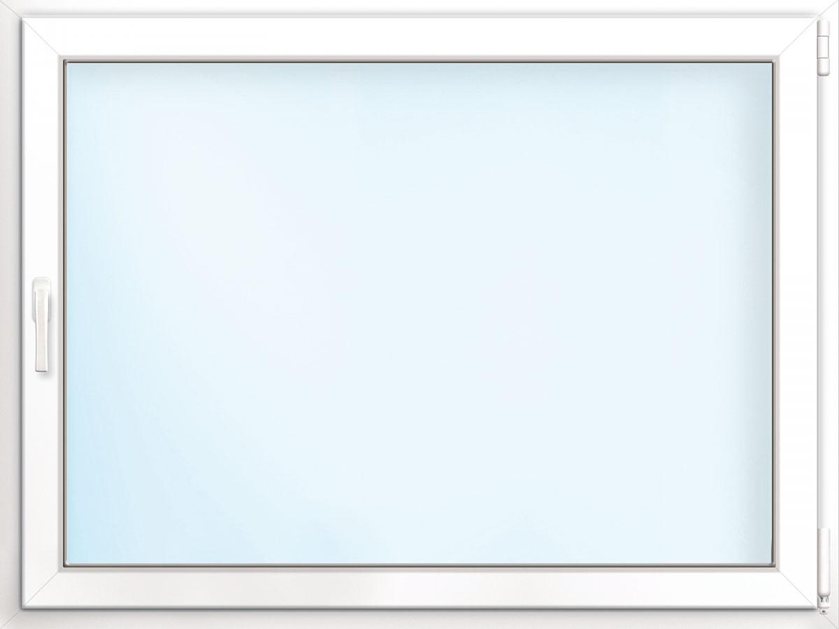 Fenster PVC 70/3 weiß/weiß Anschlag rechts 100x50 cm