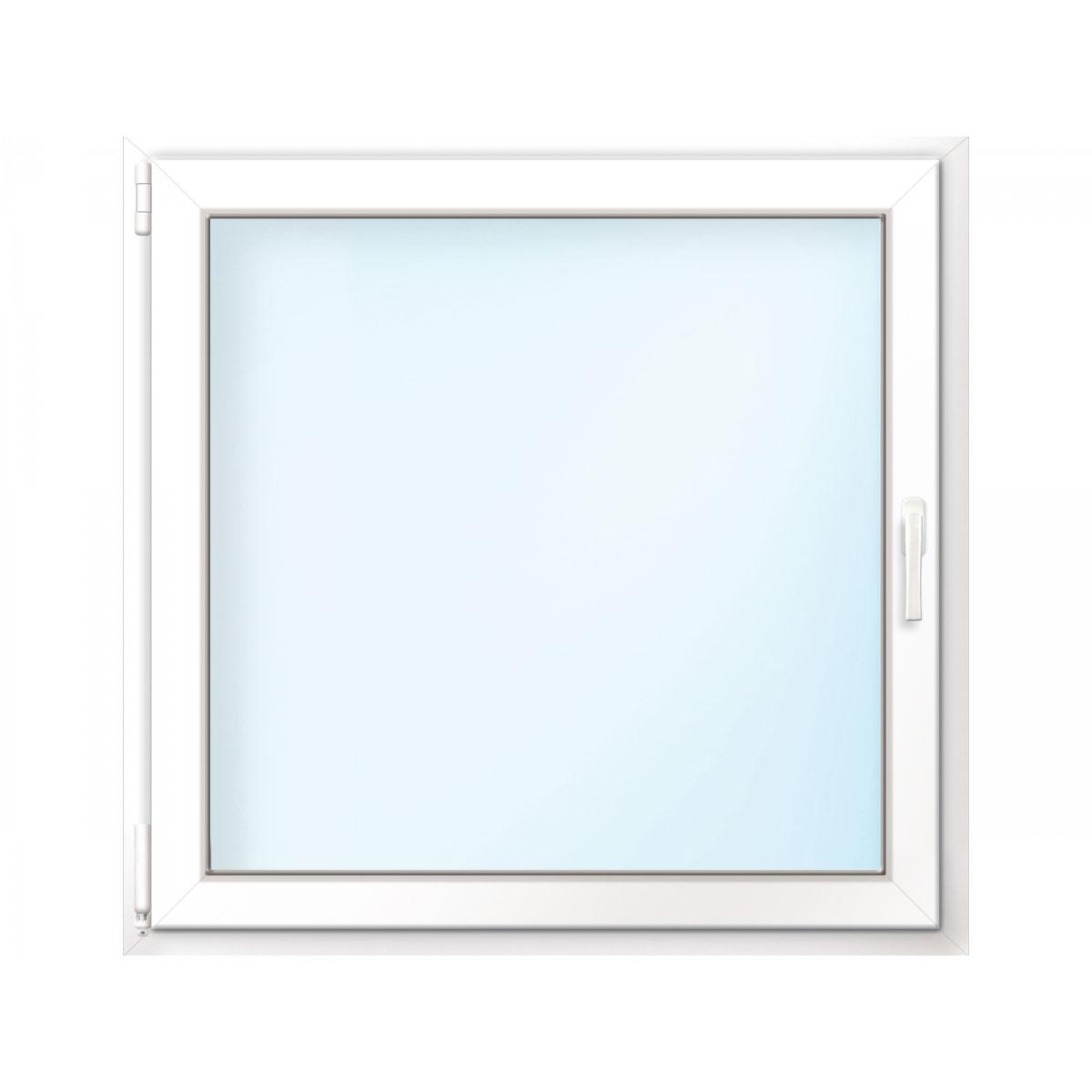 Fenster PVC 70/3 weiß/weiß Anschlag links 100x100 cm