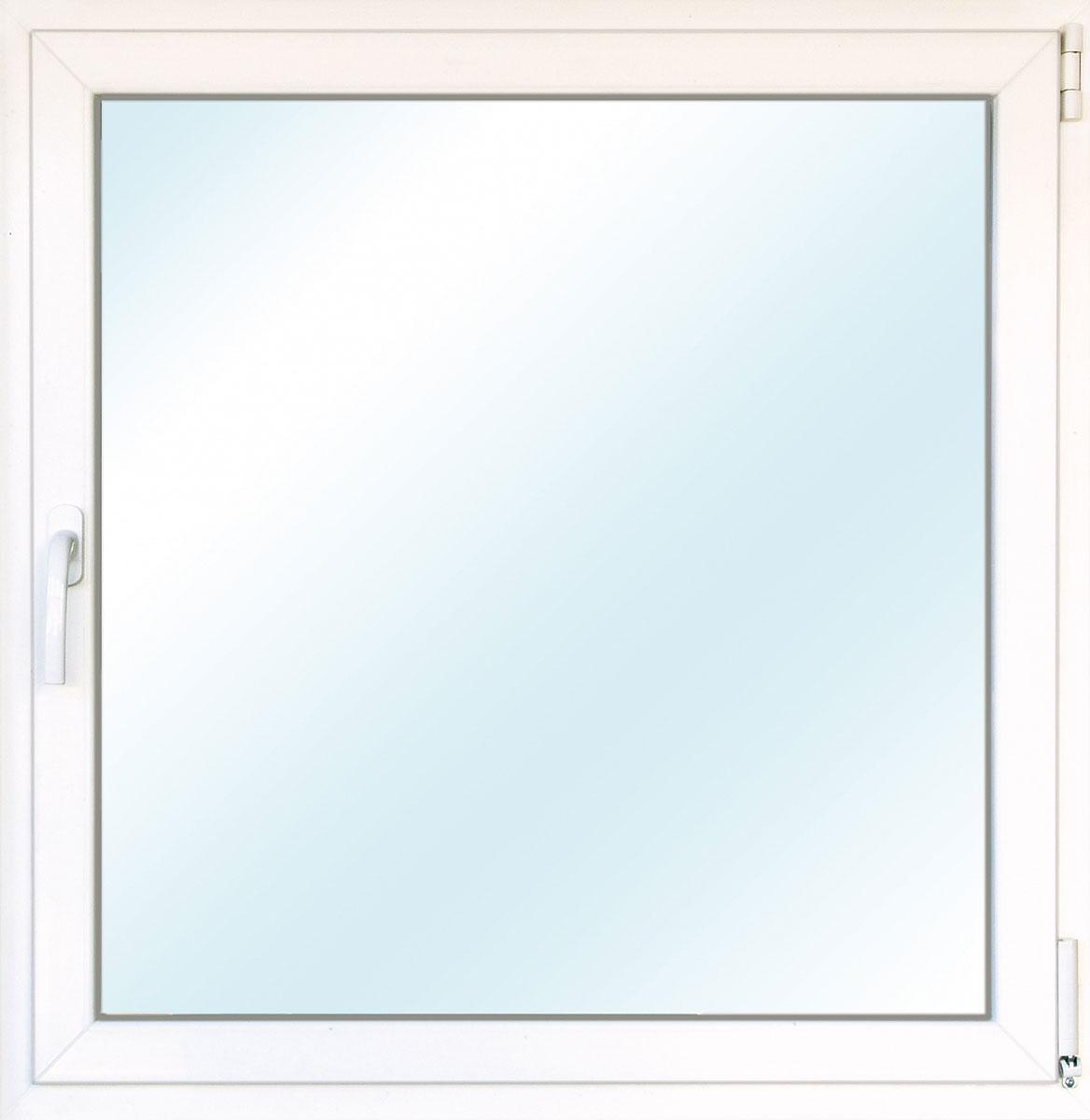 Fenster PVC 70/3 weiß/weiß Anschlag rechts 100x100 cm