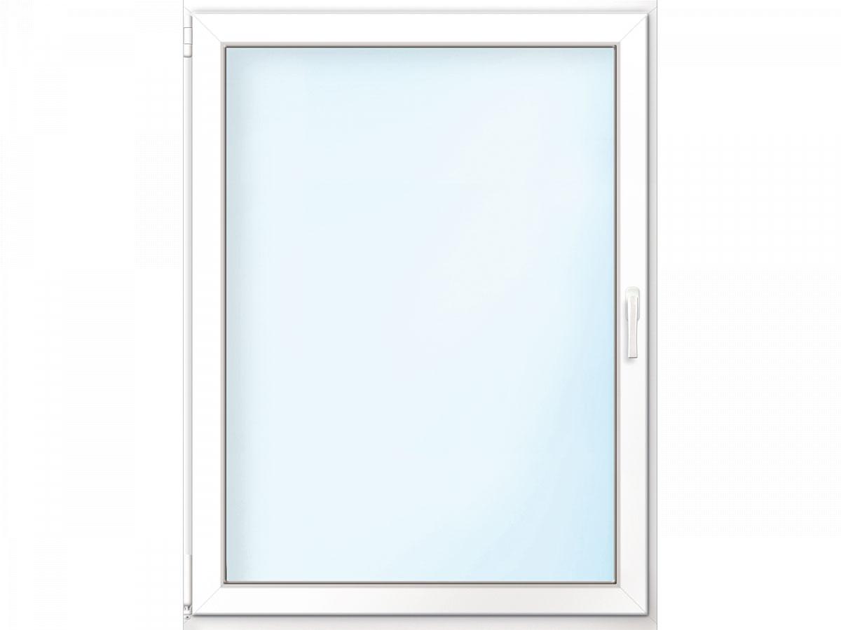 Fenster PVC 70/3 weiß/weiß Anschlag links 105x135 cm