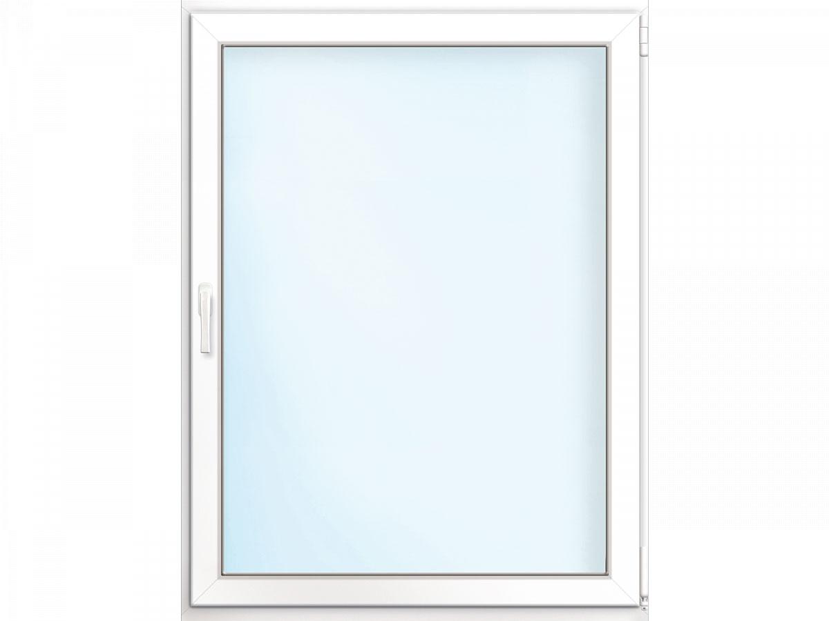 Fenster PVC 70/3 weiß/weiß Anschlag rechts 105x135 cm