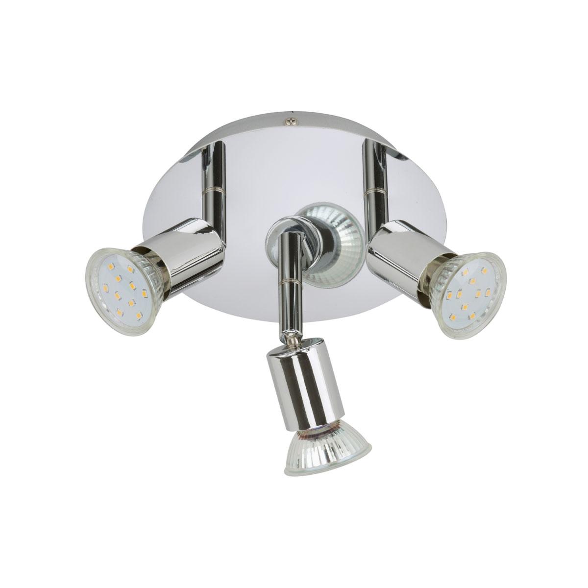 Deckenleuchten - LED Deckenleuchte, chrom, GU10, Metall  - Onlineshop Hellweg