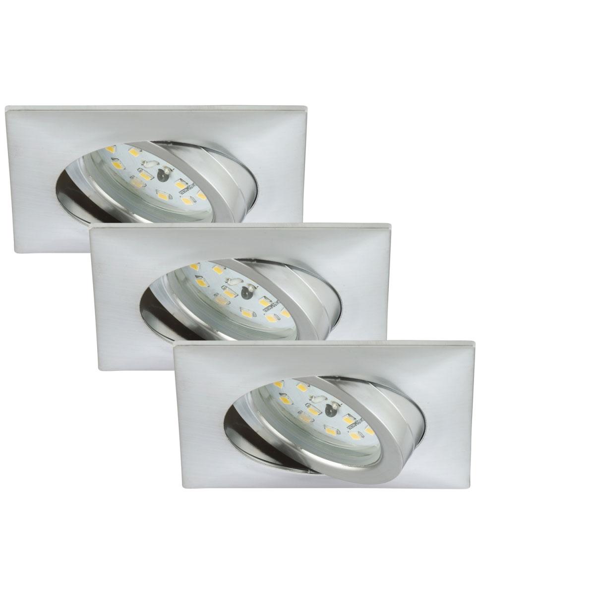 Deckenleuchten - LED Einbauleuchten Set, Aluminium, Modul, eckig, mit Gelenk  - Onlineshop Hellweg