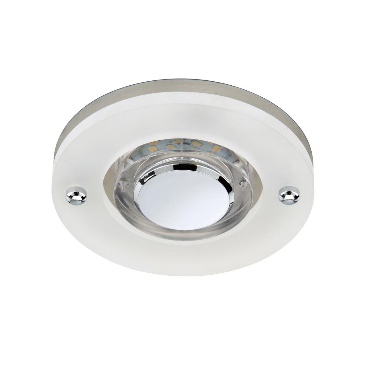 Deckenleuchten - LED Einbauleuchte, matt, Modul, rund, Glas  - Onlineshop Hellweg