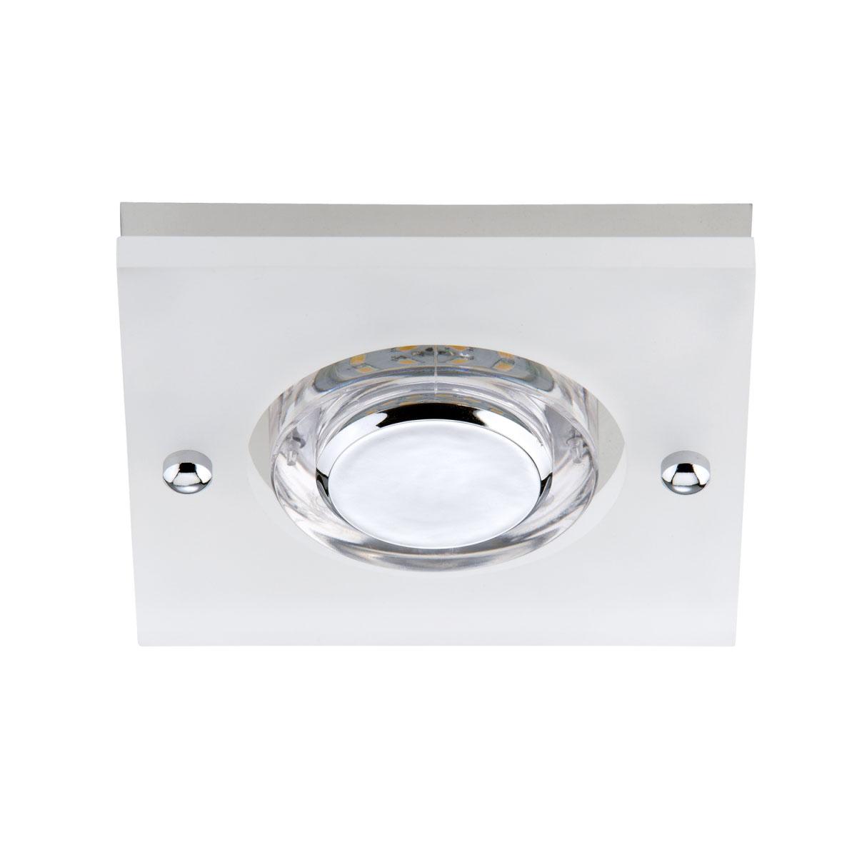 Deckenleuchten - LED Einbauleuchte, chrom, Modul  - Onlineshop Hellweg
