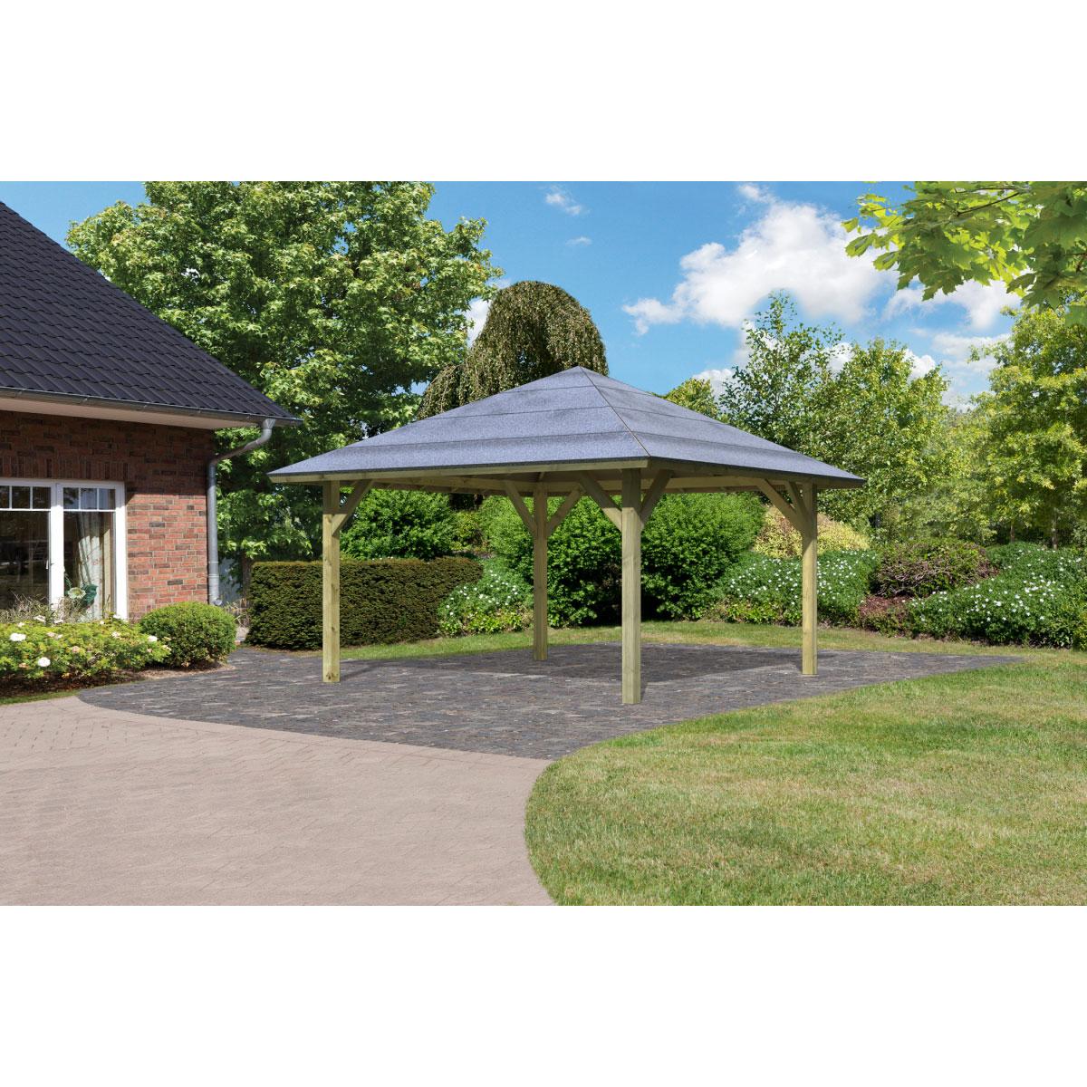 "Carports - Pavillon Carport ""Kirn 1"" Massivholz 359 cm  - Onlineshop Hellweg"