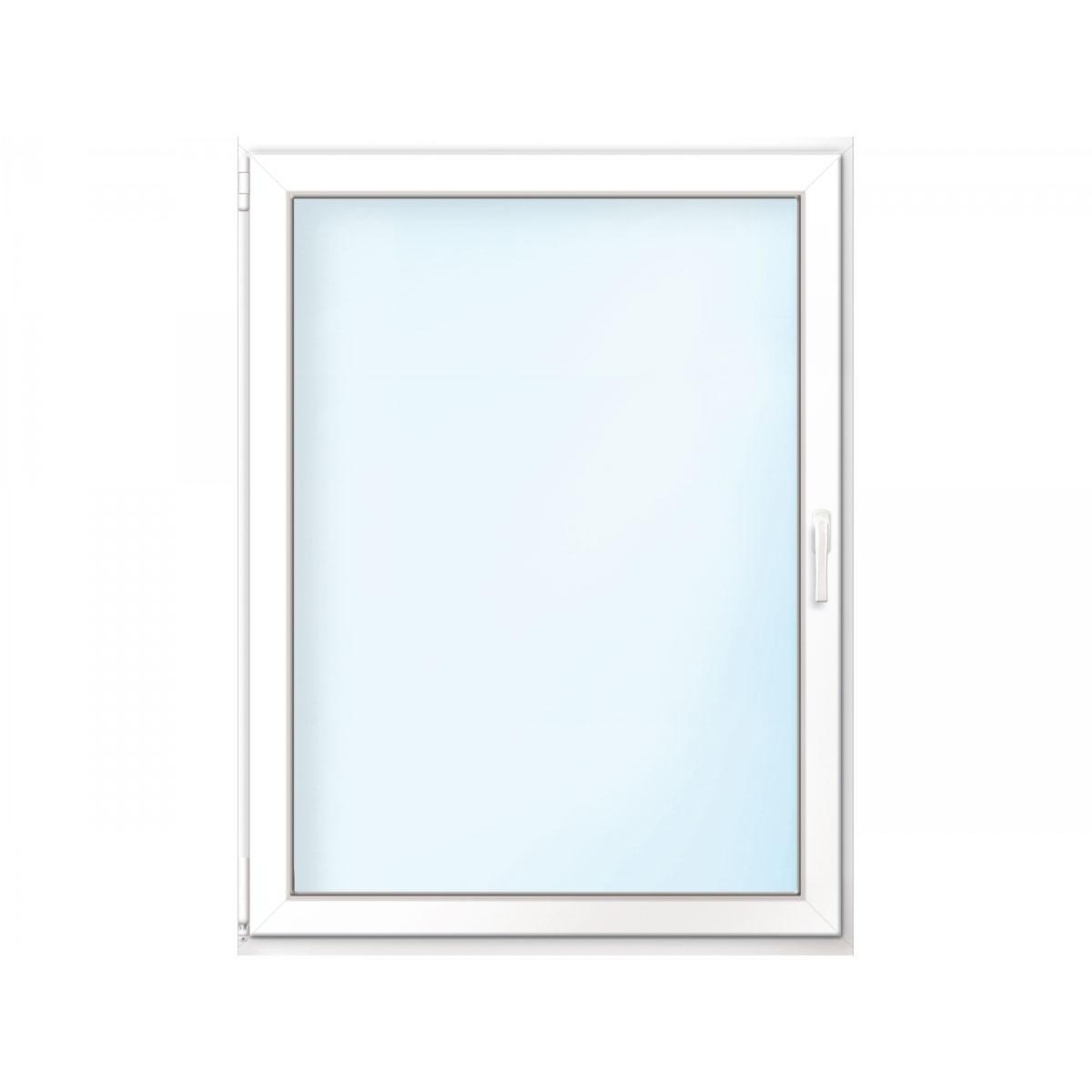 Fenster PVC 70/3 weiß/weiß Anschlag links 75x90 cm