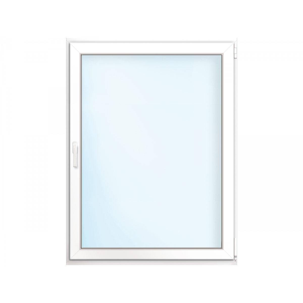 Fenster PVC 70/3 weiß/weiß Anschlag rechts 75x90 cm