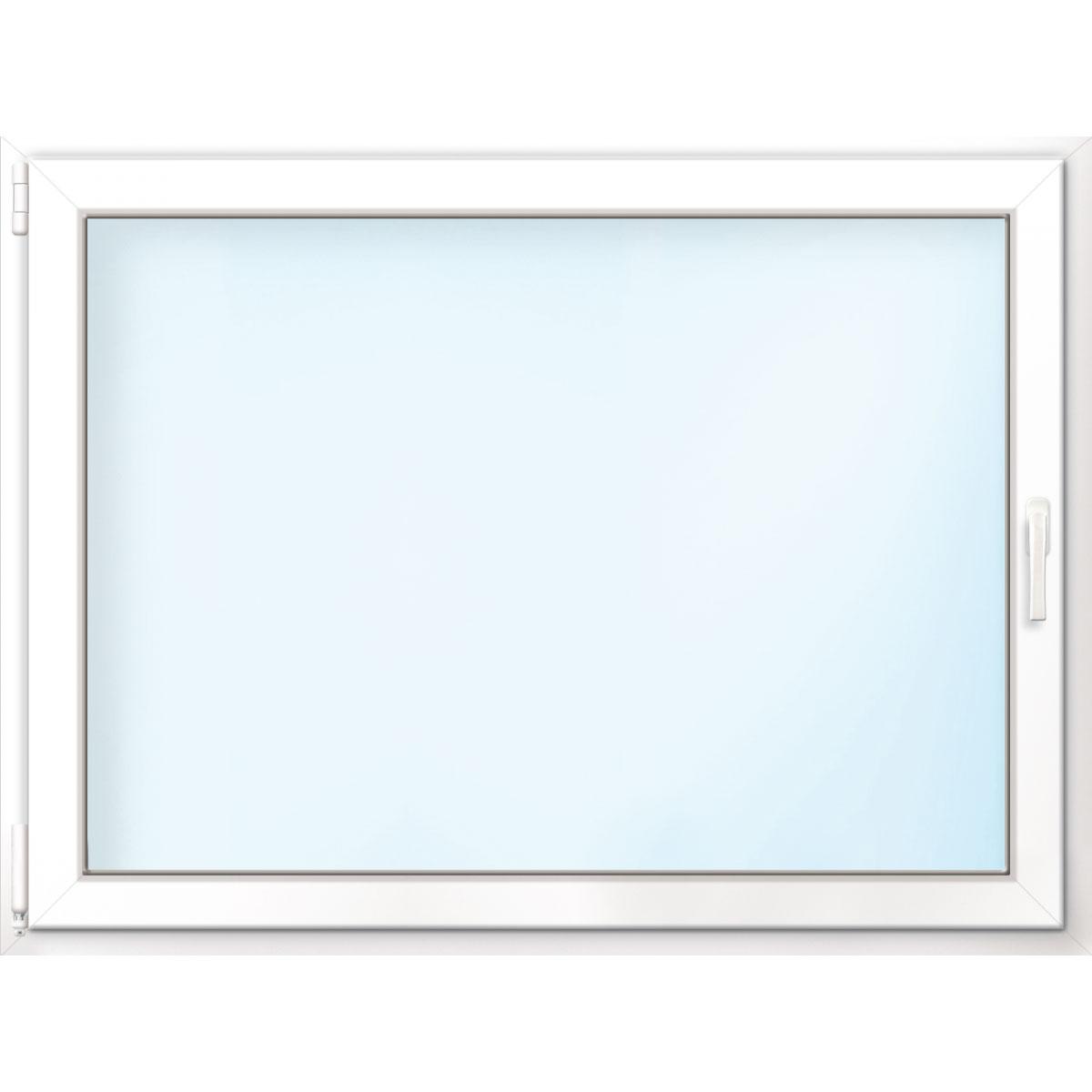 Fenster PVC 70/3 weiß/weiß Anschlag links 75x50 cm