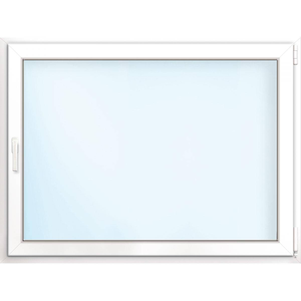 Fenster PVC 70/3 weiß/weiß Anschlag rechts 75x50 cm