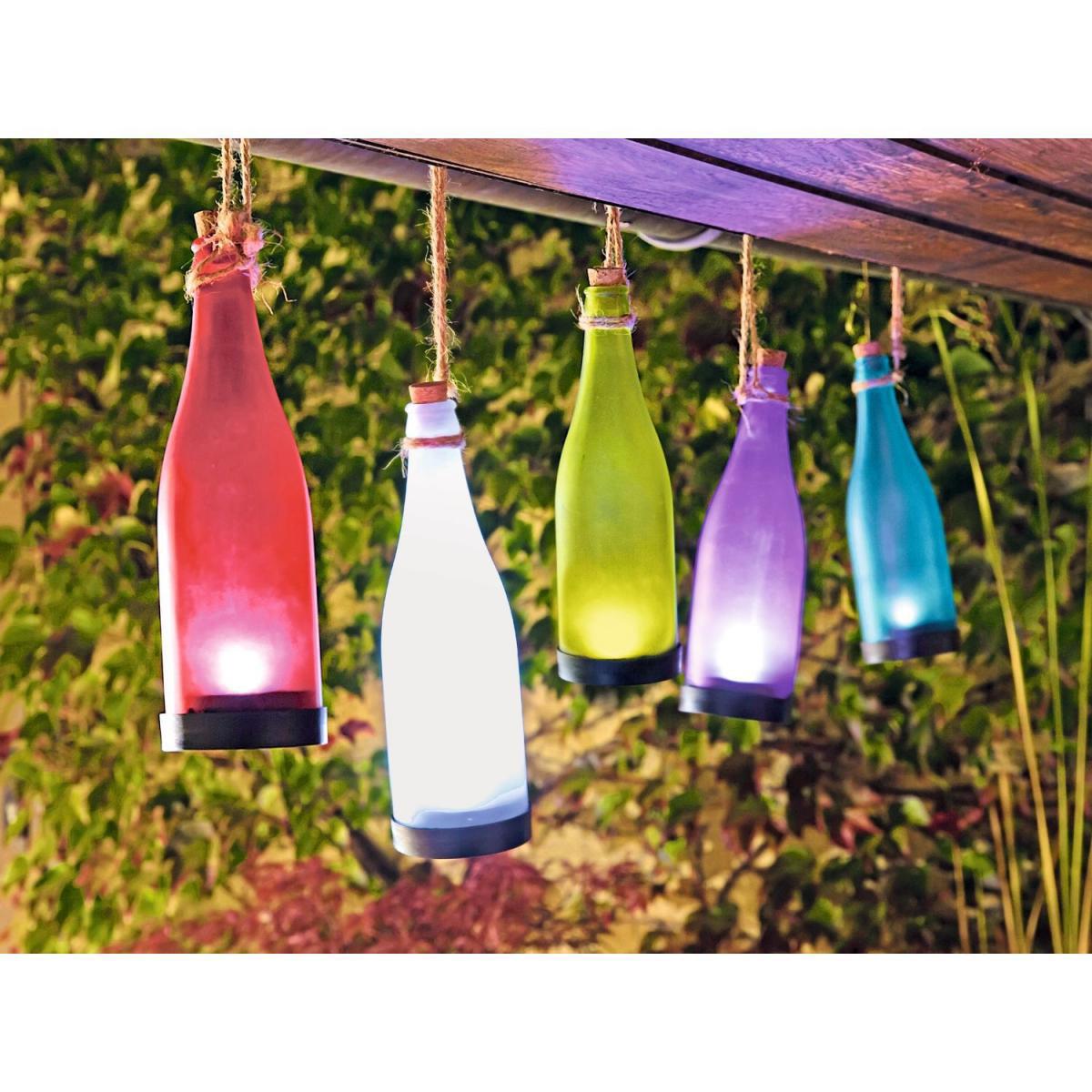 Solarleuchten - Solar Flaschenleuchte, verschiedene Farben  - Onlineshop Hellweg