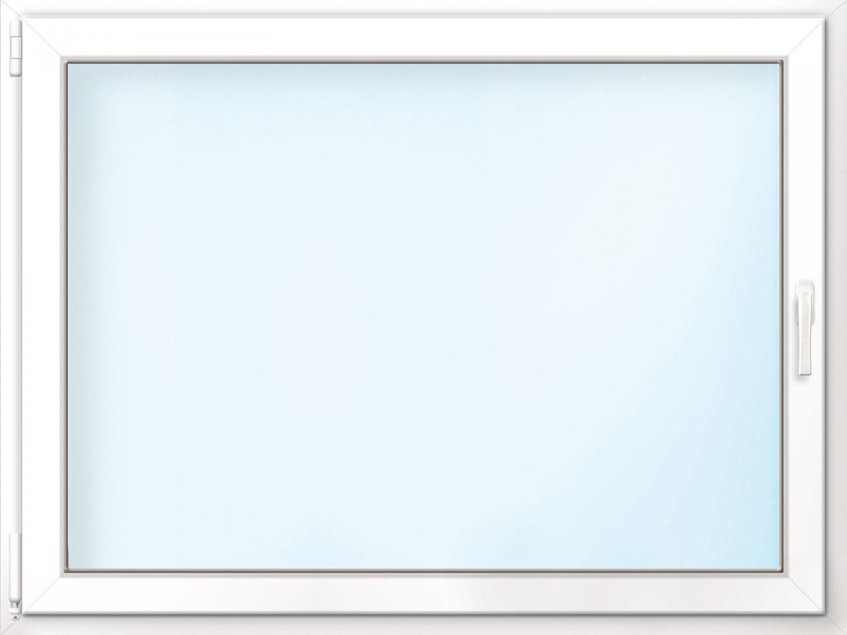 Fenster PVC 70/3 weiß/weiß Anschlag links 100x80 cm