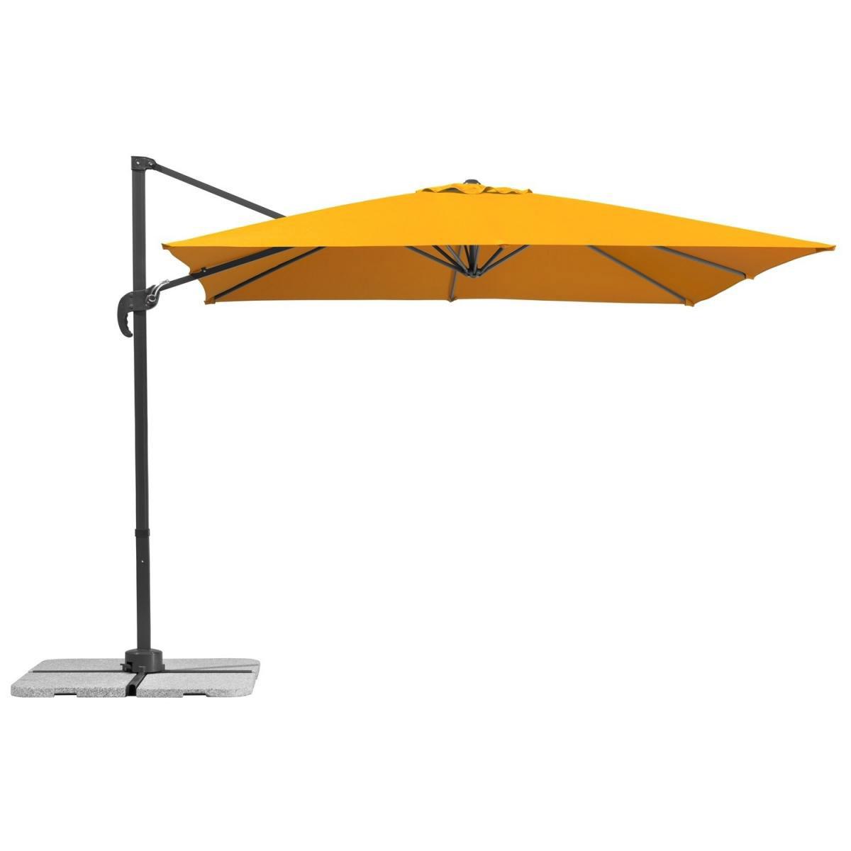 """Sonnenschirme und Sonnensegel - Ampelschirm """"Rhodos Junior"""", 270x270 cm, mandarine, quadratisch  - Onlineshop Hellweg"""
