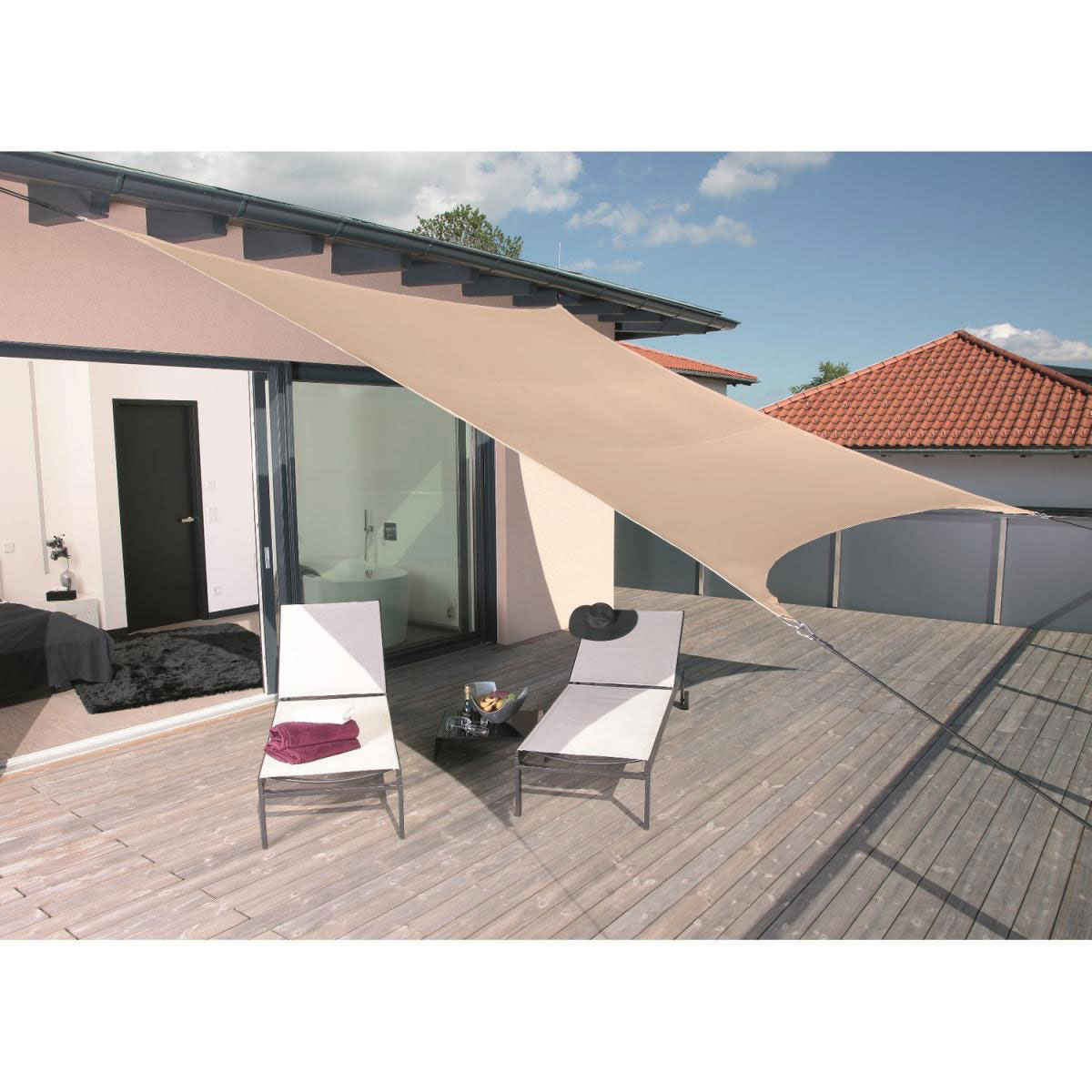 """Sonnenschirme und Sonnensegel - Sonnensegel """"SunSail Riviera"""" Quadrat 3,6 m khaki  - Onlineshop Hellweg"""