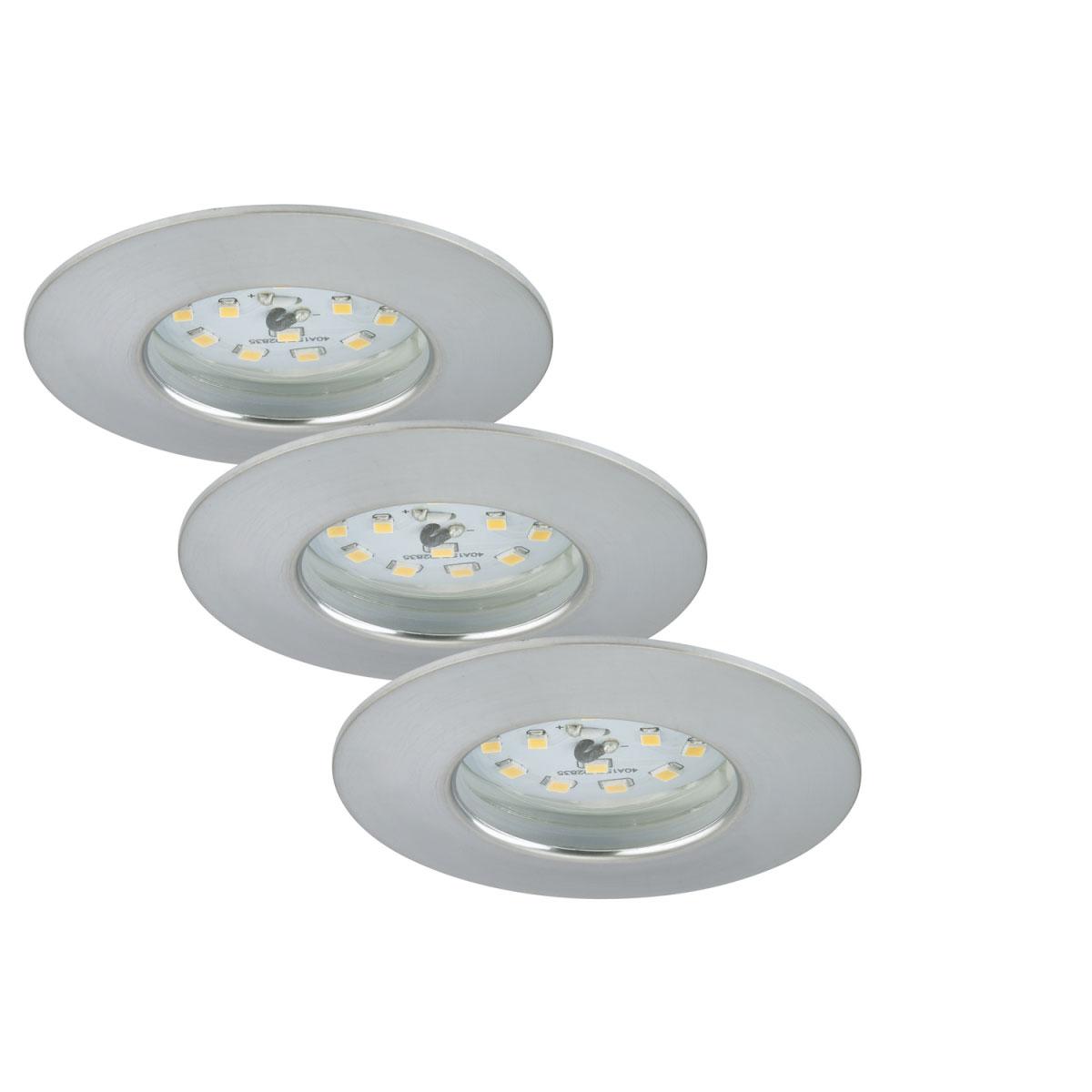 Deckenleuchten - LED Einbauleuchte, Aluminium, 3 flammig  - Onlineshop Hellweg