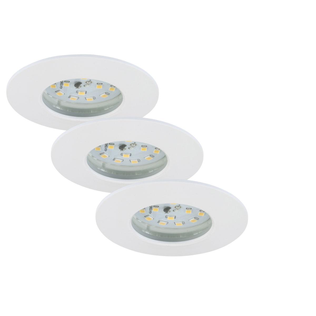 Deckenleuchten - LED Einbauleuchte, weiß, 3x5,5W  - Onlineshop Hellweg