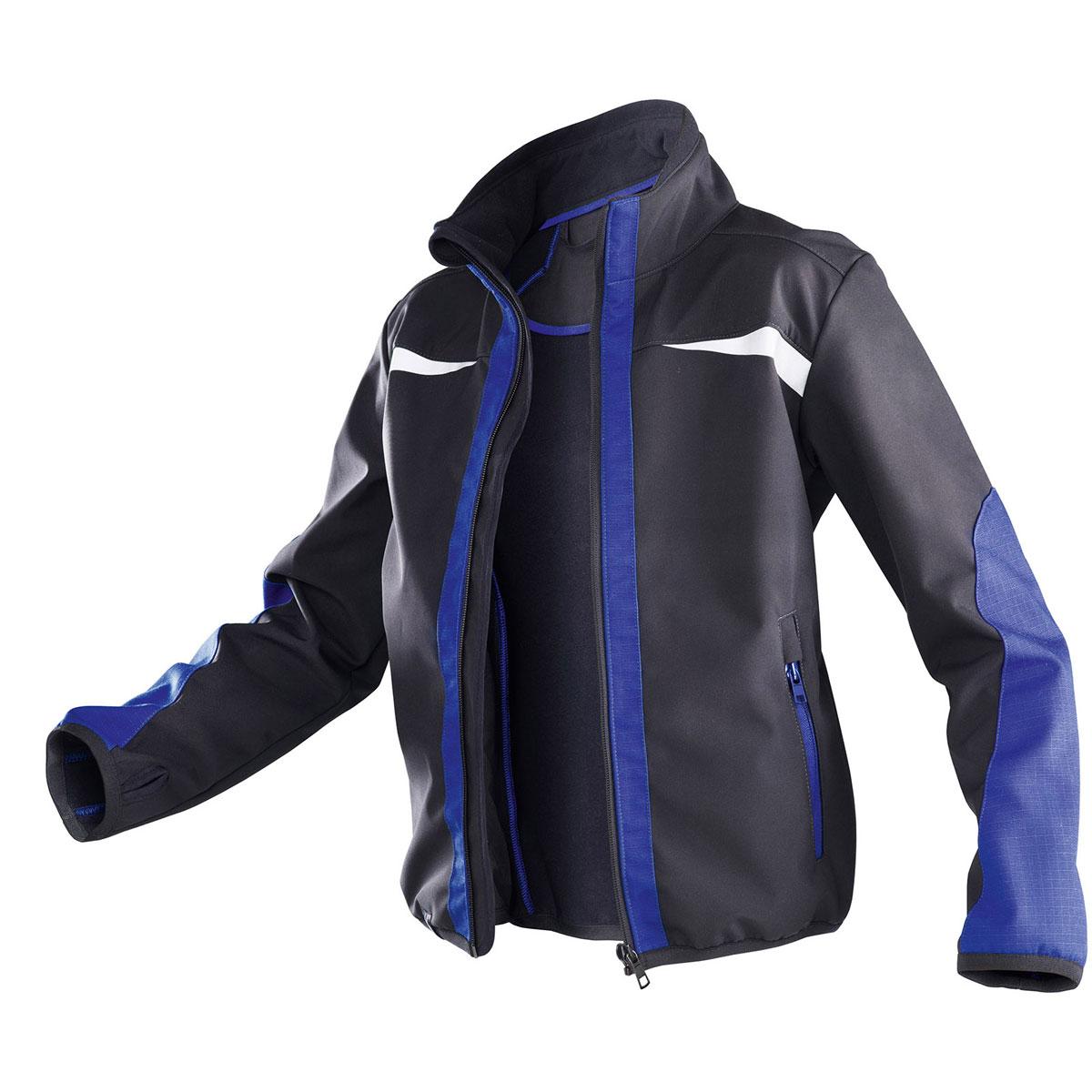 "Softshell Jacke ""Kidz"", blau, Gr.98/104 98/104"